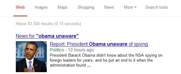 Obama Unaware